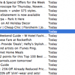 Macworld email marketing subject line experiment screenshot.