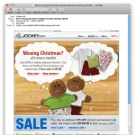 Jockey.com email marketing example 2 - with images loaded.