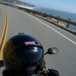 Angelica shot this one from the pillion on the way down Highway 1.