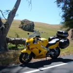 My VFR on the side of the road somewhere on the way to Tomales Bay.