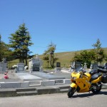 Brief stop in a tiny old cemetery on the road to Dillon Beach.