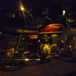 Of course there's a picture of a motorbike - sweet seventies Honda 400 four spotted at Dia de los Muertos.