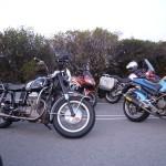 Moto Guzzi Ambassador on Mount Tamalpais, Easter 2012.
