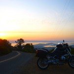 BMW R1200R on Mount Tamalpais, Easter Ride 2012.