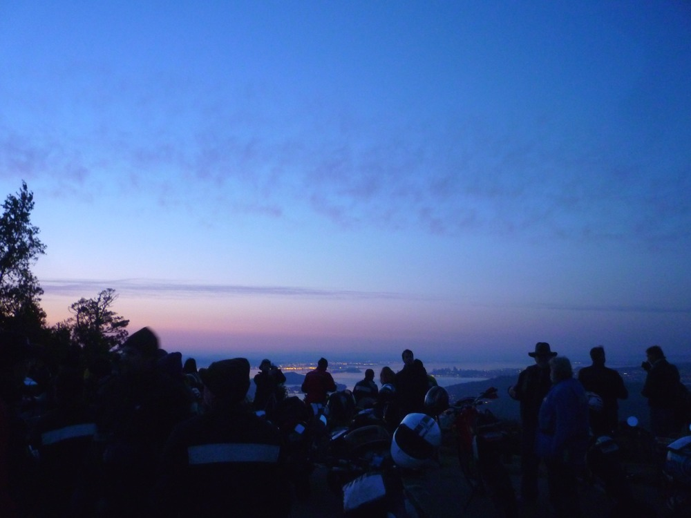 The view from Mount Tamalpais at dawn on Easter 2012.