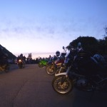Motorbikes on Mount Tamalpais, Easter 2012.