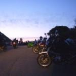 Motorbikes on Mount Tamalpais, Easter 2012.