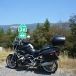 Motorbike ride on Highway 36, Northern California.
