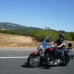 My dad on his big Yamaha on the way up to Fortuna.