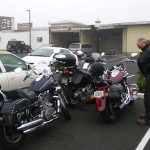 Motorbikes in Crescent City.