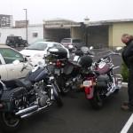 Motorbikes in Crescent City.