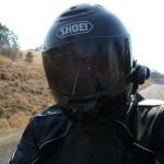 Motorbike ride, Highway 36, Northern California.