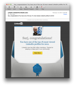 LinkedIn 1 Percenter Email Marketing