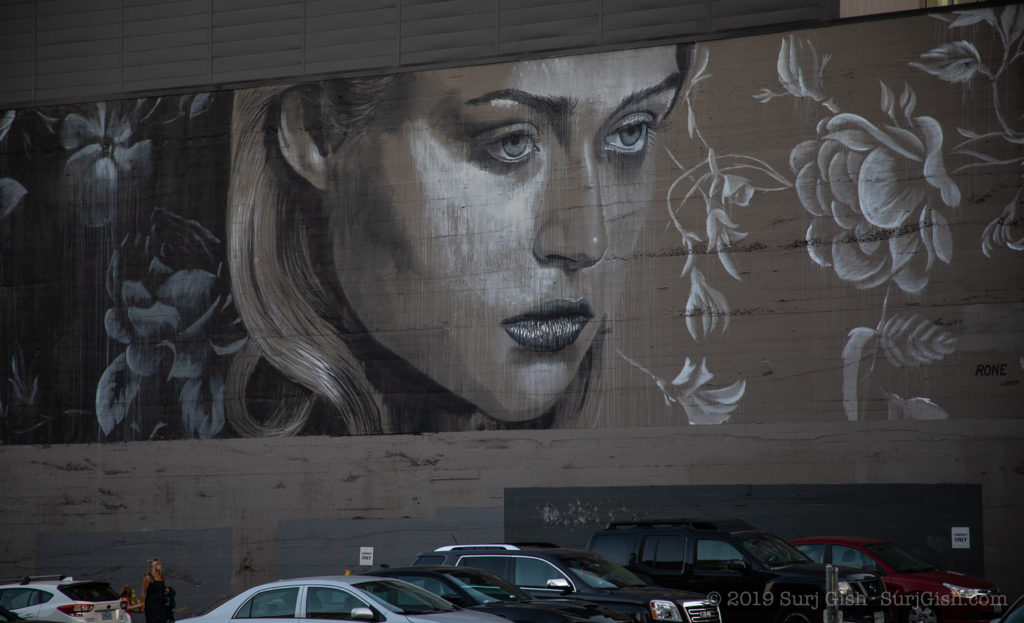 Rone mural in Portland, OR.